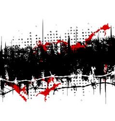 grunge stripe vector image vector image