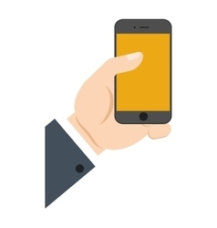 hand holding smartphone device online shopping vector image