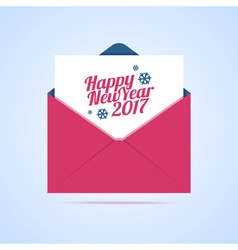 Happy New Year 2017 email vector image vector image
