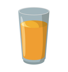 juice in glass cup vector image