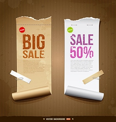 Vintage paper roll ripped vector image vector image