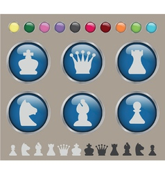 Button chess vector