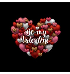 Happy Valentines day design Black background with vector image