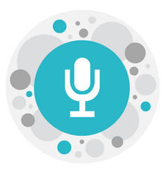 of audio symbol on microphone vector image