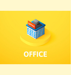 office isometric icon isolated on color vector image
