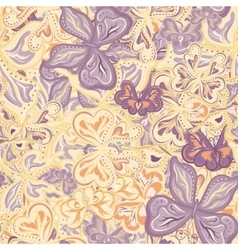 Seamless pattern with butterflies for vector image vector image
