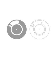 vinyl record retro sound carrier grey set icon vector image vector image