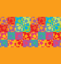 colorful vintage modern pattern design vector image vector image