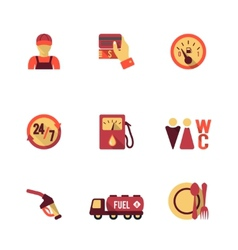 Fuel Pump Icons Set vector image vector image