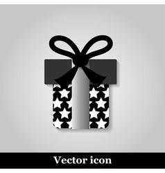 Gift icon on grey background vector image