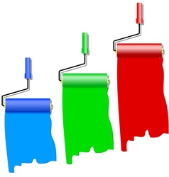 rollers for painting vector image vector image