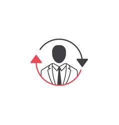 Seo consulting icon operator linear colorful icon vector