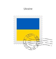 Ukraine Flag Postage Stamp vector image vector image