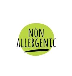 Allergens free non allergenic labels vector