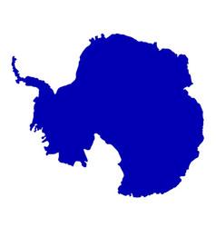 Antarctica silhouette map vector