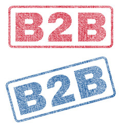 B2b textile stamps vector
