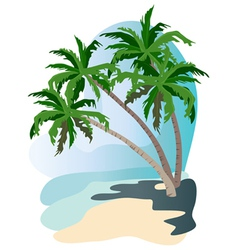 beach palms vector image