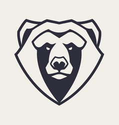 bear mascot icon vector image