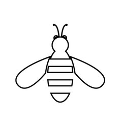 bee black color icon vector image