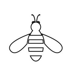 Bee black color icon vector