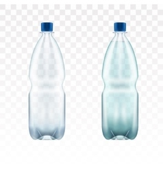 blank plastic blue water bottle transparent vector image