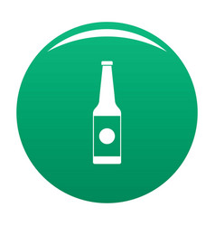 bottle water icon green vector image