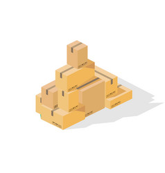 box tower isometric vector image