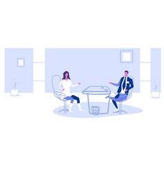Businessman asking questions and listening vector