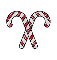 Candy cane design vector