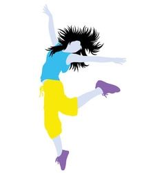 Color of Modern Dance Activity Silhouette vector