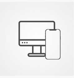 computer and phone icon sign symbol vector image