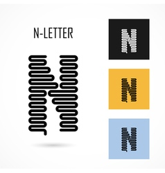 Creative n - letter icon abstract logo design vector
