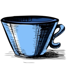Cup isolated vector image