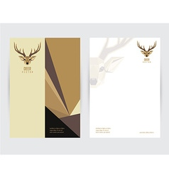Deer document template vector
