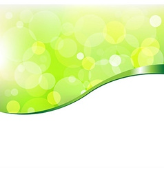 Eco Bokeh With Ribbon vector image