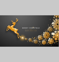 festive christmas and new year greeting card vector image