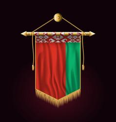 Flag of belarus festive vertical banner wall vector