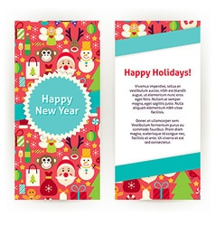 Flyer Template of Happy New Year Objects and vector image