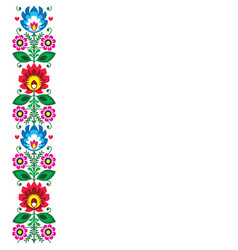 Folk art greeting card or invitation vector
