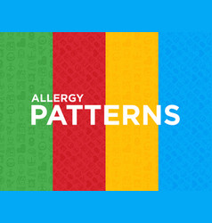 Four different allergy seamless patterns vector