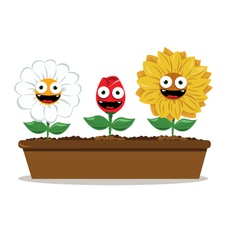 funny flowers vector image