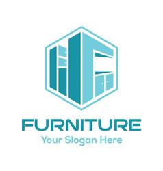 furniture logo design inspiration vector image