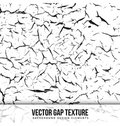 Gap texture Old color background Chipped wall vector