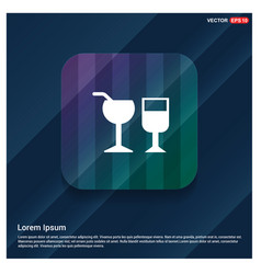 glass of drink icon vector image