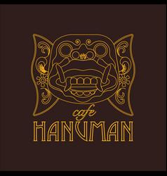 hanuman mask of ramayana story vector image