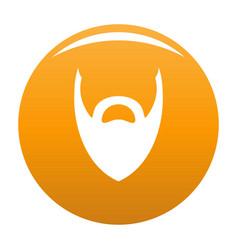Heavy beard icon orange vector