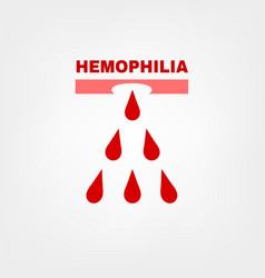 Hemophlia logotype design vector