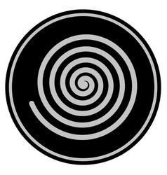 Hypnosis spiral black coin vector