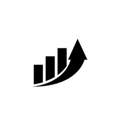 Increase profit graph growing arrow flat vector