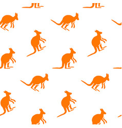 Kangaroo seamless pattern vector